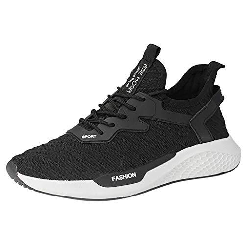 Masoness Herrenschuhe ⭐⭐Lässige Herren Fly Knit Sneakers Breathable Trend Wild Solid Color Laufschuhe,Lässige Fliegende gewebte Sportschuhe, atmungsaktiver Trend, Wilde einfarbige Laufschuhe -