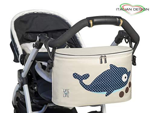 Piu' grande borsa organizer universale lifetoplife® | per passeggino neonato | zaino mamma multifunzione tracolla | elegante portaoggetti impermeabile con cerniera | accessori cambio portatile
