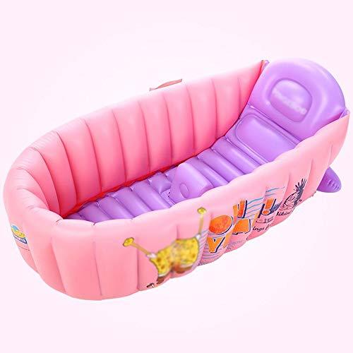 LZMXYG Baignoire bébé Baignoire bébé Baignoire Pliante Gonflable Piscine portative pour Enfants (Couleur : Rose)