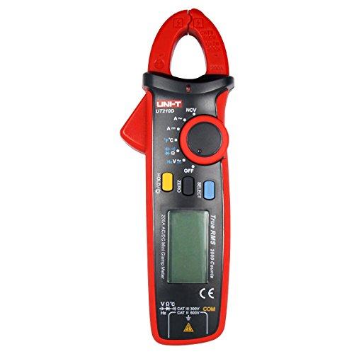 UNI-T UT210D Digital Clamp Meter Multímetro AC/DC Tensión Amperímetro Voltímetro Ohmímetro Automática Corriente Resistencia Capacitance Temperature Medición de Rango Automático