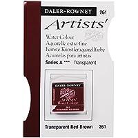 Qualità degli artisti Daler Rowney Acqua colore metà Pan 261 Transparent Red Brown (Series A)