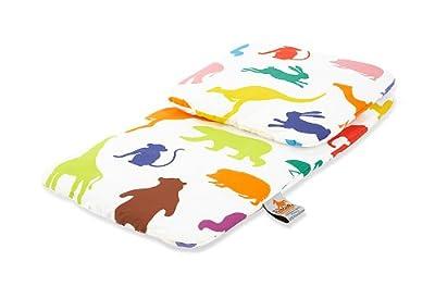 Pinolino 27529-0 - Ropa de cama y manta para cochecitos de muñecas (2 piezas) diseño 'Zoo feliz' por Pinolino
