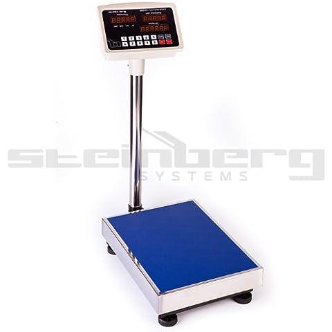 Steinberg Systems - SBS-PF-100A1 - Bilancia da piattaforma - 100 kg / 10 g - LCD