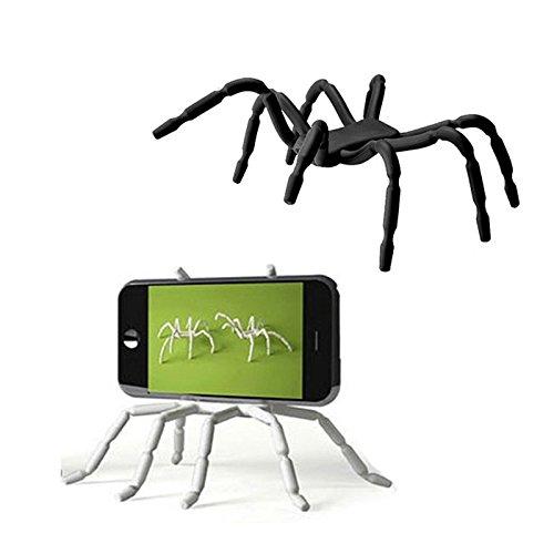 Koala Group® Flexible Spinne beweglichen Standplatz / Auto-Halterung Halter Universaltelefon -Auto-Halter Halterung und Ständer für iPhone 6 6s 6Plus, 6S plus, 5S, 5C, 5, 4S, Samsung Galaxy & Android und mehr (White)