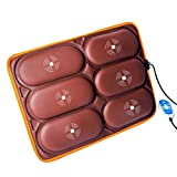 JiuErDP Cuscino per Massaggi Corpo Tutto Il Corpo | massaggiatore dell'anca Multifunzione | Cuscino da Massaggio per Anziani Elettrico | Vita/Schiena/Gamba/Vibrazione/Pressione dell'anca di RI