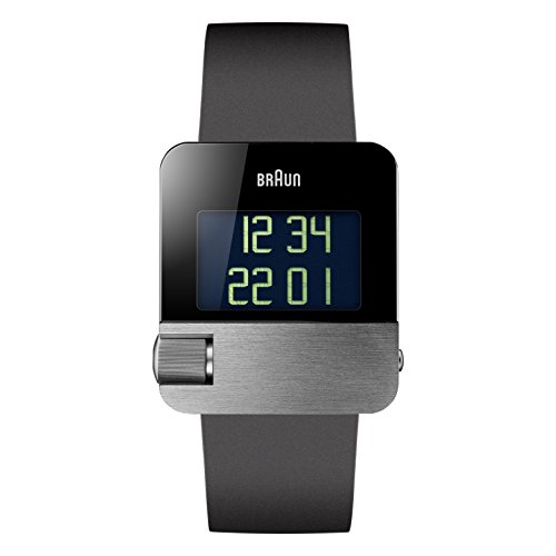 Braun Unisex Digital Quarz Armbanduhr BN0106SLBKG Informations-display-modul