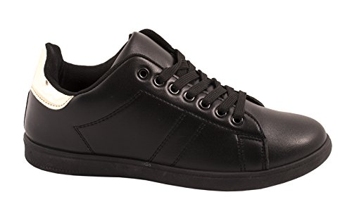 Senhoras Baixo botas Retro Homens Ouro Sneakers Preto Best Sneaker top Apartamentos x6qwnt