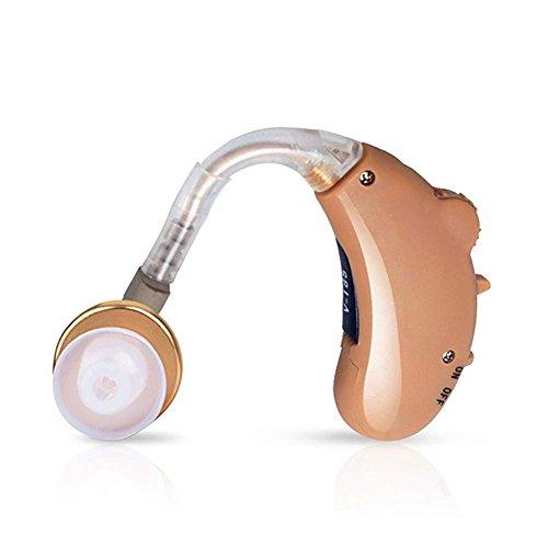 Naerfb mini miglior suono amplificatore tono regolabile orecchio apparecchi acustici - adatto per l'orecchio sinistro e destro e ar v-185 batteria ag13