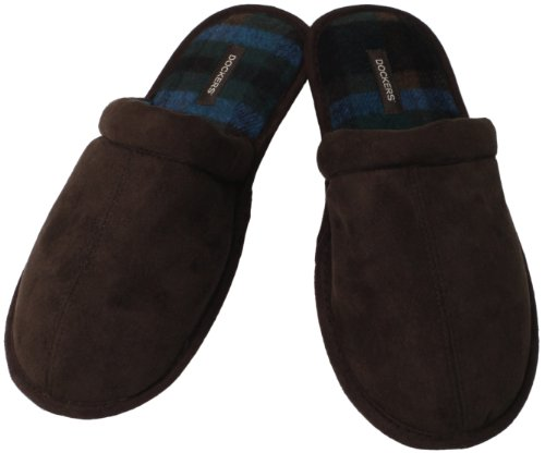 Dockers Mens James Step-in Everyday Scuff Slipper Brown