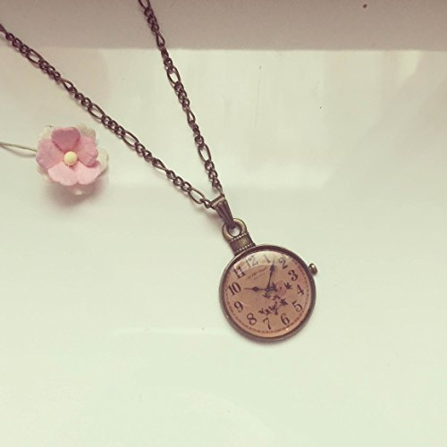long-chain-with-clock-charm-bronze-no-function-time-vintage-ethno-hippie-must-have-statement-florabe