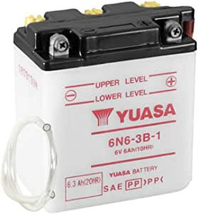 Motorrad Batterie Yuasa 6n6 3b 1 Dc Offen Ohne Säure 6v 6ah 99x57x111mm Auto