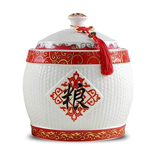 Céréales conteneur Cylindre De Riz Baril Boîte De Stockage Du Riz Boîte À Farine Avec Couvercle Cuve De Stockage Scellée Résistant Aux Moisissures Aliments contenants