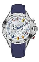 Reloj Nautica A24513G de cuarzo para hombre, correa de cuero color azul de Nautica
