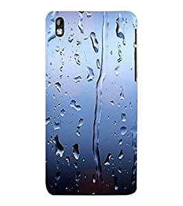 ColourCraft Beautiful Rain Pattern Design Back Case Cover for HTC DESIRE 816