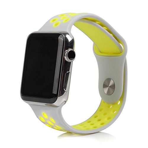 BillionGroup Replacement band for Apple Watch Nike+, Soft Silicone Sport Band for Apple Watch Series 1 and Series 2 Nike+, 38mm