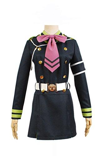 Kostüm Hiragi Shinoa - Fuman Seraph of the End Shinoa Hiragi Uniform Kleid Cosplay Kostüm L
