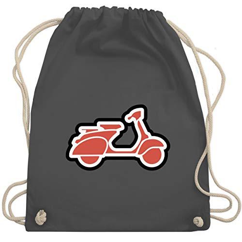 Motorräder - Roller Moped - Unisize - Dunkelgrau - WM110 - Turnbeutel & Gym Bag (Roller Bag Gym)