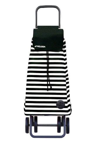 ROLSER Einkaufsroller DOS+2 / MARINA / MOU087 / schwarz-weiß / 39 x 31 x 105 cm / 51 Liter / 40 kg Tragkraft
