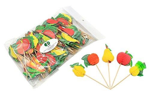 A2U 10cm Fruit Zahnstocher aus Holz 100Stück/Tasche (Erstellen Balance)