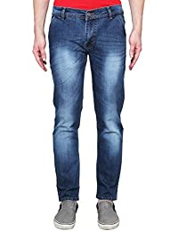 ANSH FASHION WEAR Men's Jeans - Contemporary Regular Fit Denims For Men - Washed Mid Rise Comfortable Jeans -...