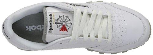 Reebok Classic Leather, Chaussures de Course Garçon 2214_41 EU_White/Grey