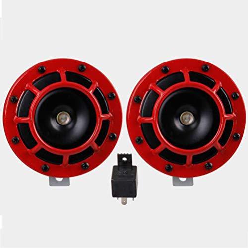 2 Stücke 12 V 110DB Super Laut Kompakte Elektrische Blast Tone Air Horn Kit-Für Motorrad Und Auto -