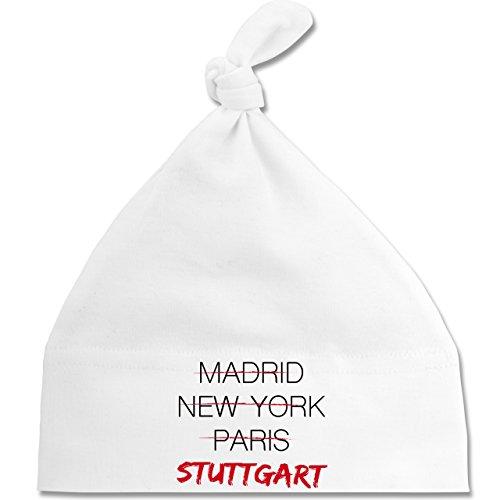 Städte & Länder Baby - Weltstadt Stuttgart - Unisize - Weiß - BZ15 - Baby Mütze...