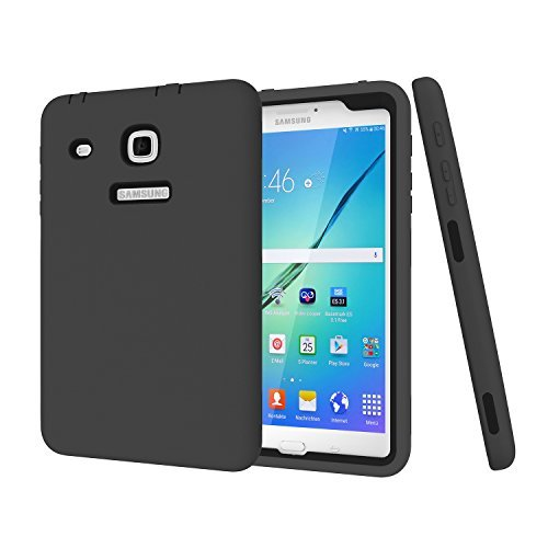 Galaxy Tab E 8.0 CaseDarmor [Heavy Duty] [hybrid] PC+Silicon Hybrid Protective Three Layer Armor Defender Full Body Protective Case for Tab E 32GB SM-T378/Tab E 8.0 SM-T375/T377 ()
