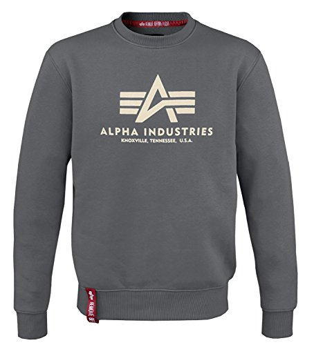 Alpha Ind. Basic Pullover Sweater Greyblack