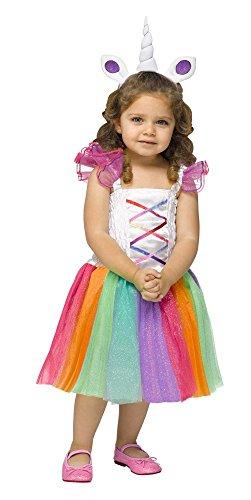 litzerndes Einhorn, Kindergröße:110 - 4 bis 6 Jahre (Waschbär Kostüm Kleinkind)
