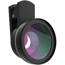 MoKo Handy Kamera Fisheye Fischauge - Universal Clip-On 0.45X Weitwinkelobjektive und 15X Macro Objektiv Set für iPhone SE / 6s / 6s Plus / 5s, Samsung Galaxy S7 / S7 Edge / S6 und andere Smartphone, Schwarz