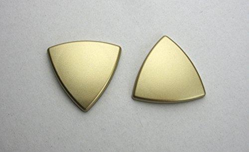 Dekomagnet - Gardinenmagnet – Magnetgriff - Magnetpin - Dreieck ca. 4 cm - starker Halt - messing matt