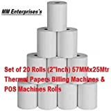 MM Enterprises 58MMx25Mtr(2Inch) Thermal Paper roll (Set of 10 Rolls)