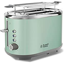 Russell Hobbs 25080-56 Toaster Grille Pain Bubble, Fentes XL, Cuisson Ajustable - Vert