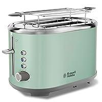 Russell Hobbs 25080-56 Bubble Ekmek Kızartma Makinesi, 2 dilim, Paslanmaz Çelik, Yeşil