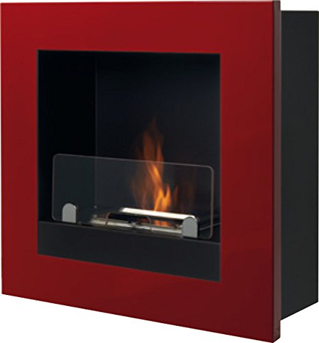 Tecno-Air-System-Asolo-Wall-mountable-fireplace-Bioetanol-Rojo-Chimenea-450-mm-180-mm-450-mm-9-kg