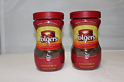 Folgers Classic Roast INSTANT Coffee 226g (Pack of 2) by The Folgers Coffee Company