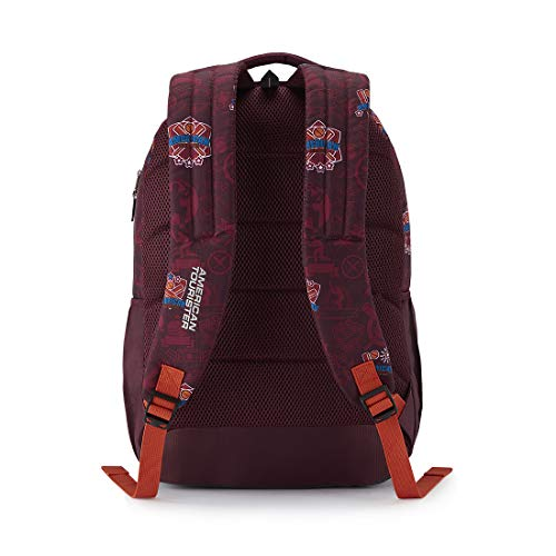 Best college bags for girl in flipkart in India 2020 American Tourister Trafford 34 Ltrs Red Casual Backpack (FR0 (0) 00 101) Image 4