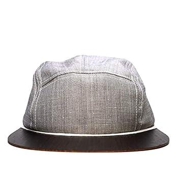 Cap für Damen & Herren Made in Germany – Leinen Cap grau mit edlem Holzschild – Sommercap