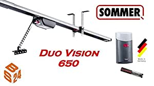 sommer duo vision 650 moteur pour porte de garage avec rail bricolage. Black Bedroom Furniture Sets. Home Design Ideas