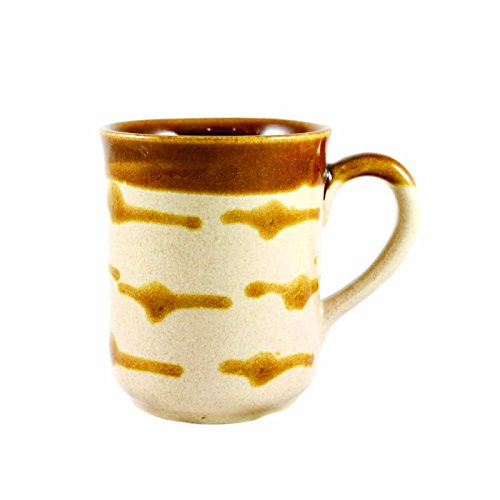 Tea Treasure Handprinted Mugs (Coffee, Tea, Milk) (Caramel)