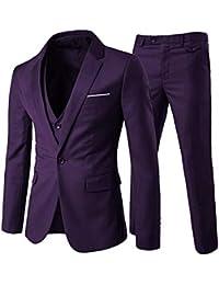 f20cdfbdd Trajes para Hombres 3 Piezas Elegante Traje de Estilo Occidental Blazer  Chalecos y Pantalones