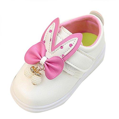 Ouneed® Doux Cuir Chaussures Lapin Oreille Fille EU 21 -25 Blanc