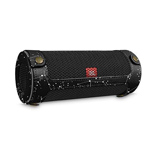 Fintie JBL Flip 4 Tragbare Lautsprecher Hülle Abdeckung - Hochwertiges Kunstleder Schutzhülle Tasche Case mit Karabinerhaken für JBL Flip4 Tragbare Lautsprecher, Sternbild