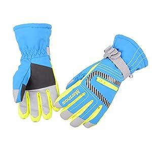 Azarxis Kinder Skihandschuhe, Winter Warme Snowboard Handschuhe Winddicht rutschfest Winterhandschuhe für Jungen, Mädchen im Outdoor Sport