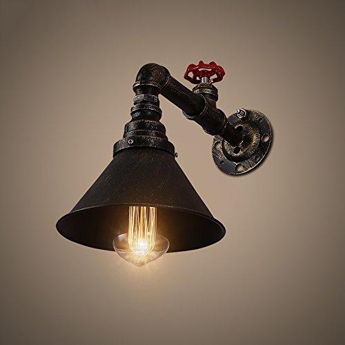 Retro industrielle Wand-Lampe amerikanische Art-Eisen-Glas-Wasser-Rohr-Wand-Licht-Stall-Gaststätte-Kaffee-Bar Ein-Kopf-Korridor-Beleuchtung (Kopf Traktion)