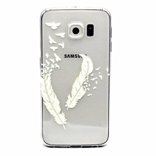 MOTOUREN Samsung Galaxy S6 Coque , Transparent Crystal TPU Ultra Mince Ultra Léger Silicone Doux TPU Case Cover Housse Etui pourSamsung Galaxy S6 - printemps
