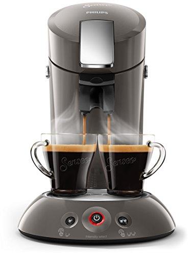 Philips Senseo HD6556/00 Kaffeepadmaschine (Crema Plus, Kaffeestärkewahl) dunkelgrau metall