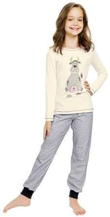 Italian Fashion IF Mädchen Schlafanzug Raspberry 0223 (Ecru, 122)