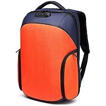 Impermeable Mochila USB Recargable Bandolera Hombres Creativa Casual Bolsa Antirrobo,Orange